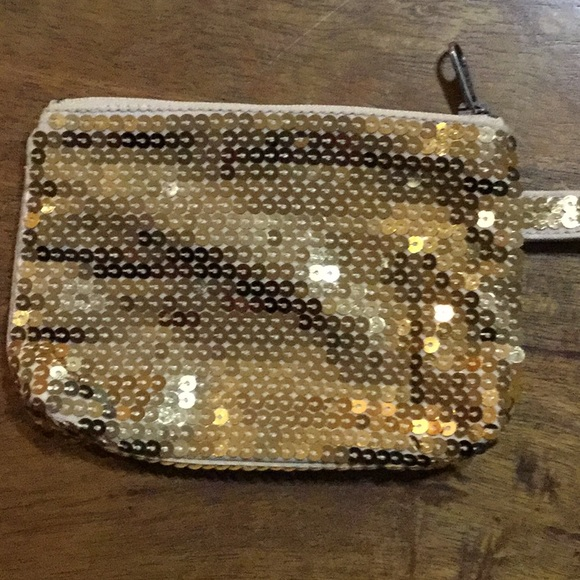 American Eagle Outfitters Handbags - American Eagle Outfitters, Gold Bling Change Purse